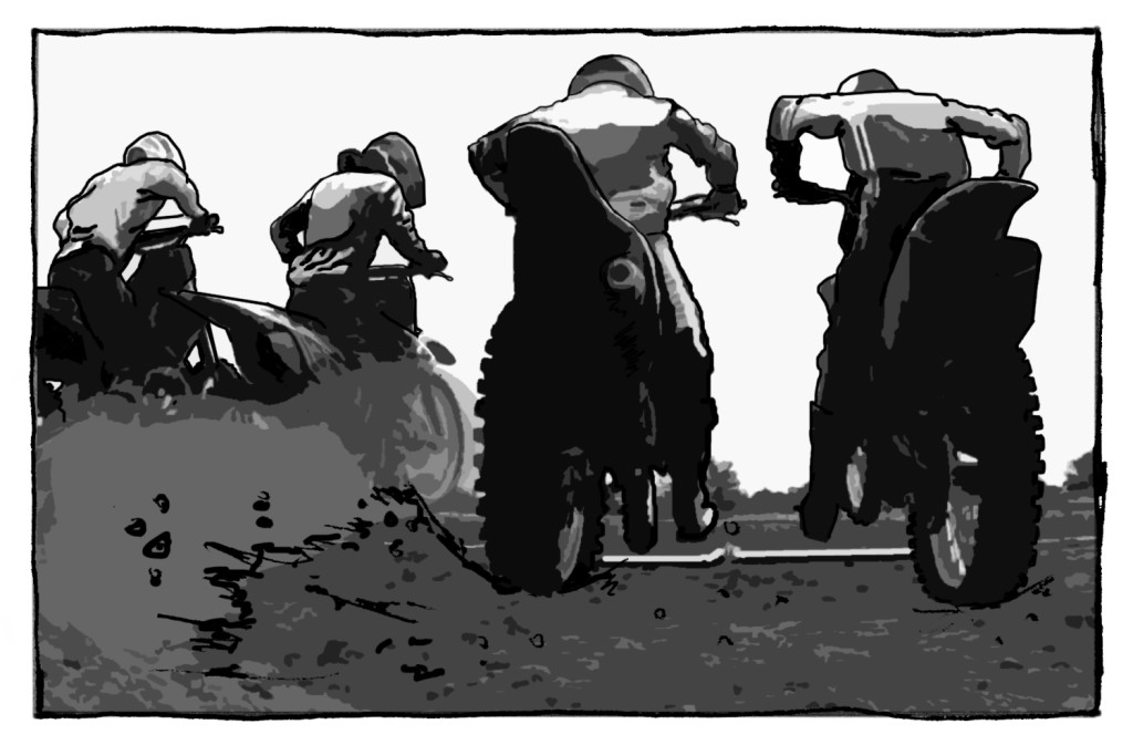 Mud, Blood and Motocross the graphic novel by Mick Wade