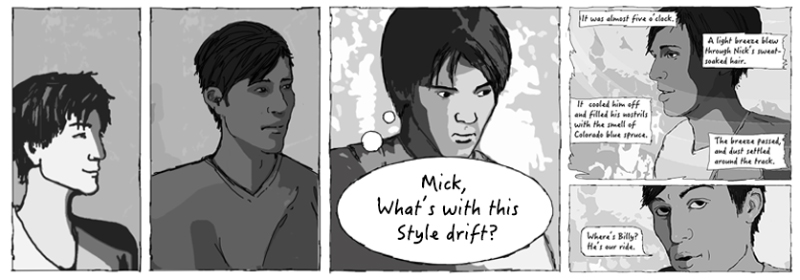 Character design drift in drawing comics