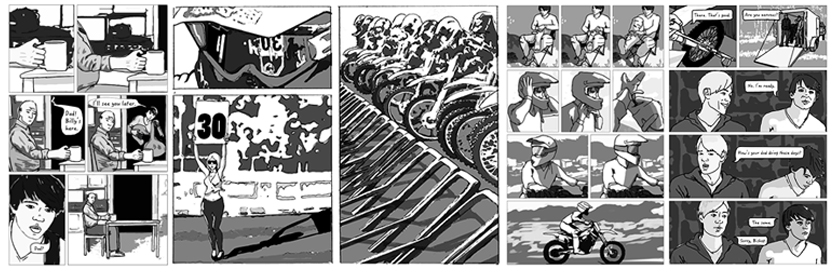 Style-guide mud, Blood and Motocross: The Graphic Novel